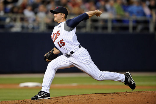 April 14 2009: Pitcher Glen Perkins of the Minnesota Twins pitching in the Twins 3-2 victory over the Toronto Blue Jays