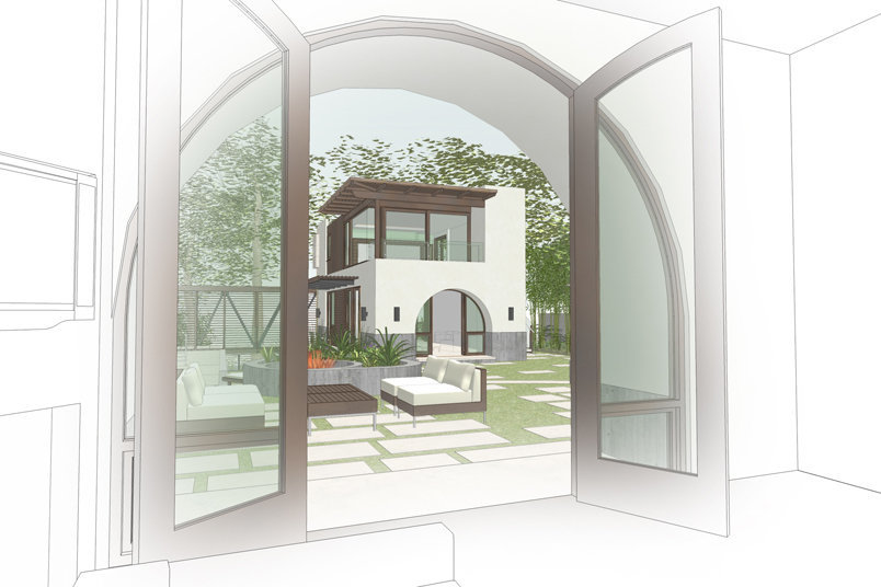 New Guest House with Pool and Gardens - Brentwood, Los Angeles, California  1,400 SF  In Progress