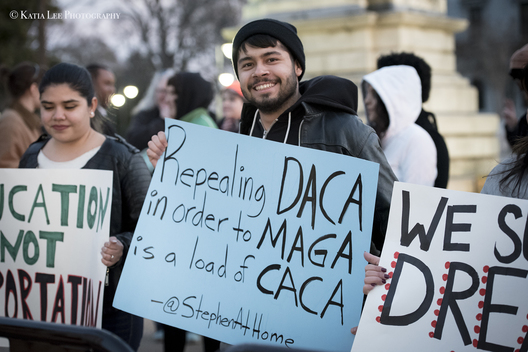 Rally to defend DACA in Columbia, S.C., January 30, 2018