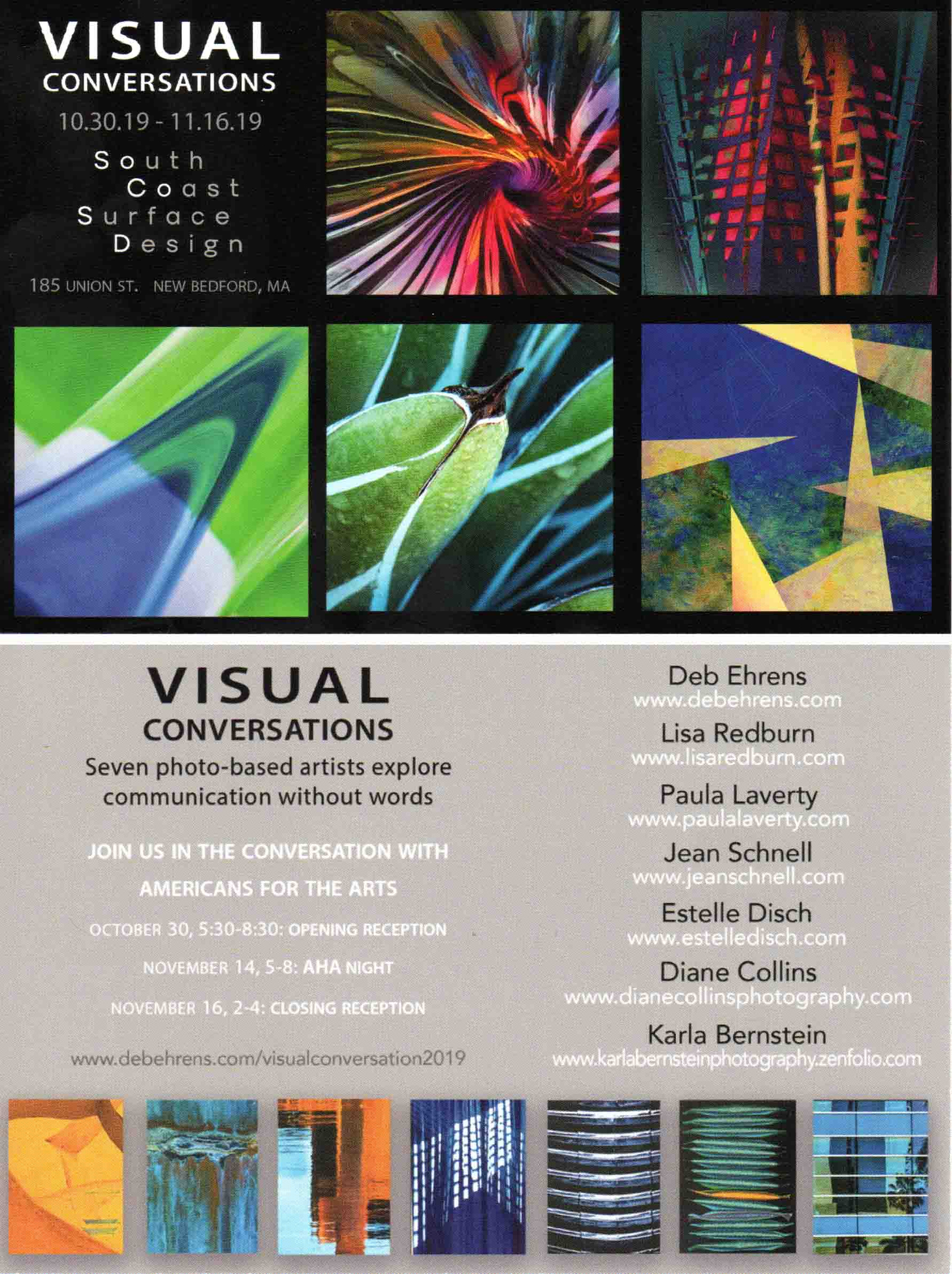 Surface Designs for Visual Conversations