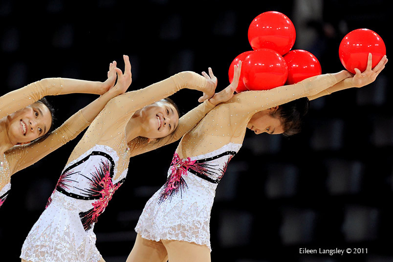 The group from China at the World Rhythmic Gymnastics Championships in Montpellier.