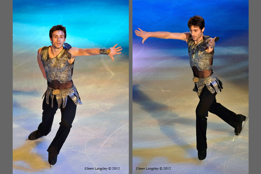 Brian Joubert (France) performing in the Exhibition Gala at the 2012 ISU Grand Prix Trophy Eric Bompard at the Palais Omnisports Bercy