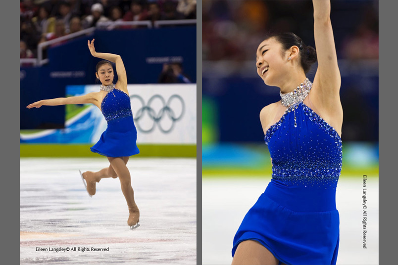 Yu Na Kim (Korea) performs a perfect free programme to win the gold medal at the 2010 Vancouver Winter Olympic Games.