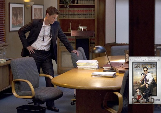 "THE GRINDER:   Rob Lowe in the ""Little Michard No More"" episode of THE GRINDER airing Tuesday, Oct. 13 (8:30-9:00 PM ET/PT) on FOX.  2015 Fox Broadcasting Co.  Cr:  John P. Fleenor/FOX"