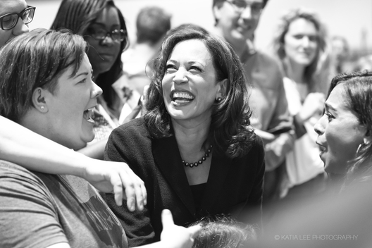 Kamala Harris meets South Carolinians after a town hall in Columbia