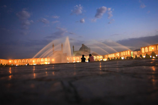 Taking time to reflect at one of the world's largest and most beautiful squares, Imam Square in Iran.