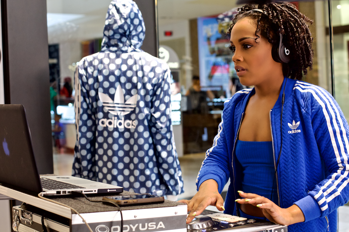 Adidas Promotion DJ Finish Line King of Prussia Mall King of Prussia, Pa May 27, 2017  DerekBrad.com