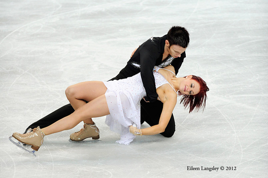 Louise Walden and Owen Edwards (Great Britain) competing in the ice dance event at the 2012 European Figure Skating Championships at the Motorpoint Arena in Sheffield UK January 23rd to 29th.