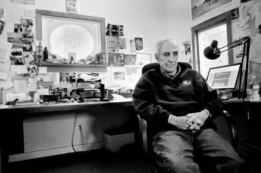 Author Peter Matthiessen in his office at his home in Sagaponack, NY