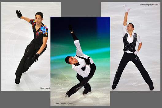 Chafik Besseghier (France) competing in the short and long programmes and in the Exhibition Gala at the 2012 ISU Grand Prix Trophy Eric Bompard at the Palais Omnisports Bercy