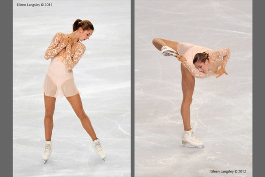 Polina Korobeynikova (Russia) competing in the short at the 2012 ISU Grand Prix Trophy Eric Bompard at the Palais Omnisports Bercy