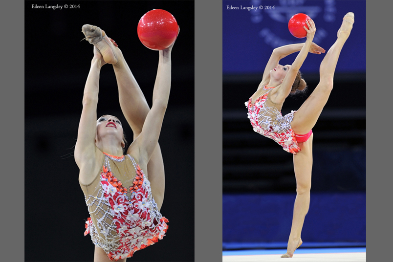 Patricia Bezzoubenko (Canada) winner of the gold medal in the all around of the Rhythmic Gymnastics event at the 2014 Glasgow Commonwealth Games.