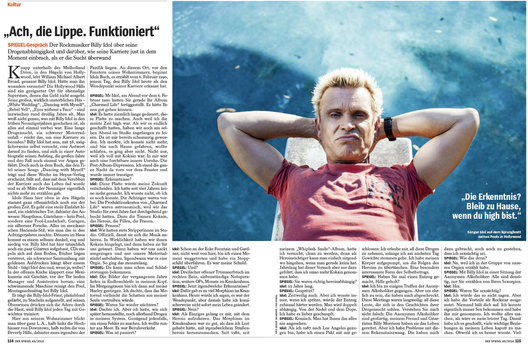 Billy Idol for Der Spiegel