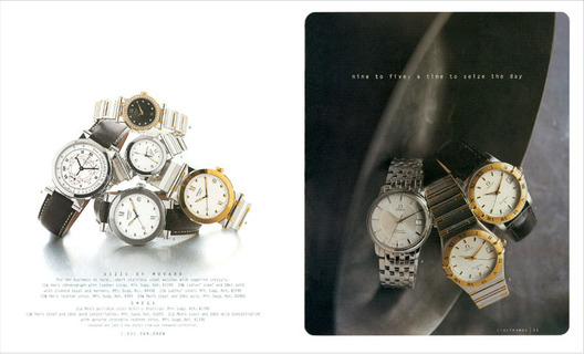 Watch Collections Book featuring new corporate logo and photo direction for R/S fine watch collections.