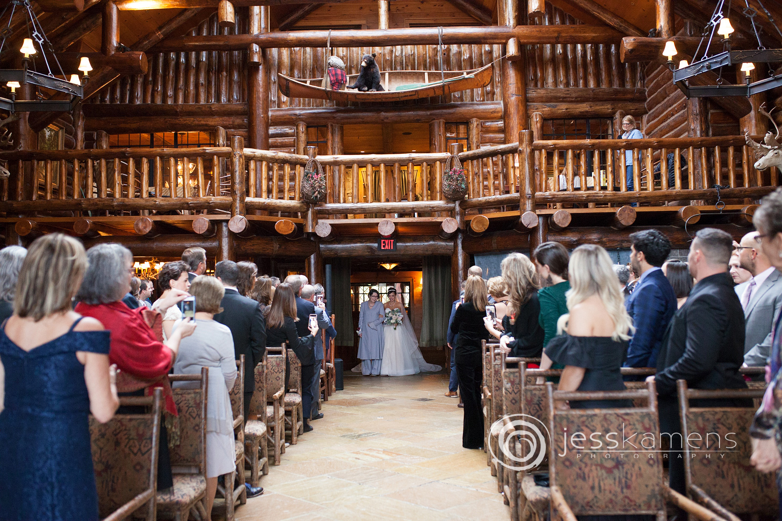 whiteface lodge kanu room in lake placid new york where the bride walks down the aisle