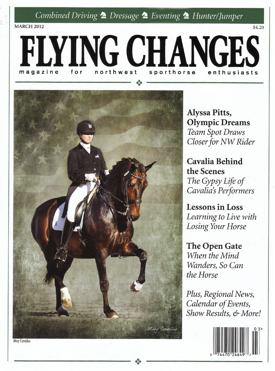 My cover featuring Adrienne Lyle on her way to the Olympics with Wizard