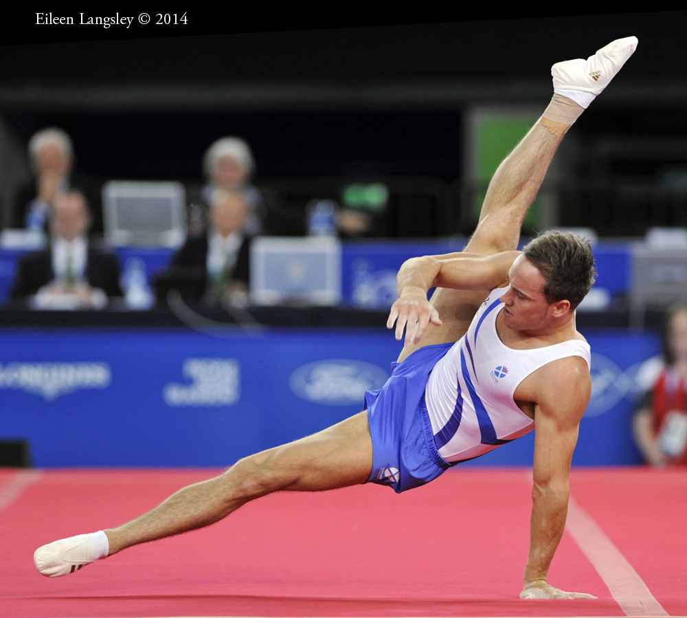 Daniel Keatings (Scotland) competing on Floor at the 2014 Glasgow Commonwealth Games.