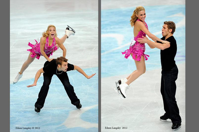 Isabella Tobias and Deividas Stagniunas (Lithuania) competing the Dance event at the 2012 European Figure Skating Championships at the Motorpoint Arena in Sheffield UK January 23rd to 29th.