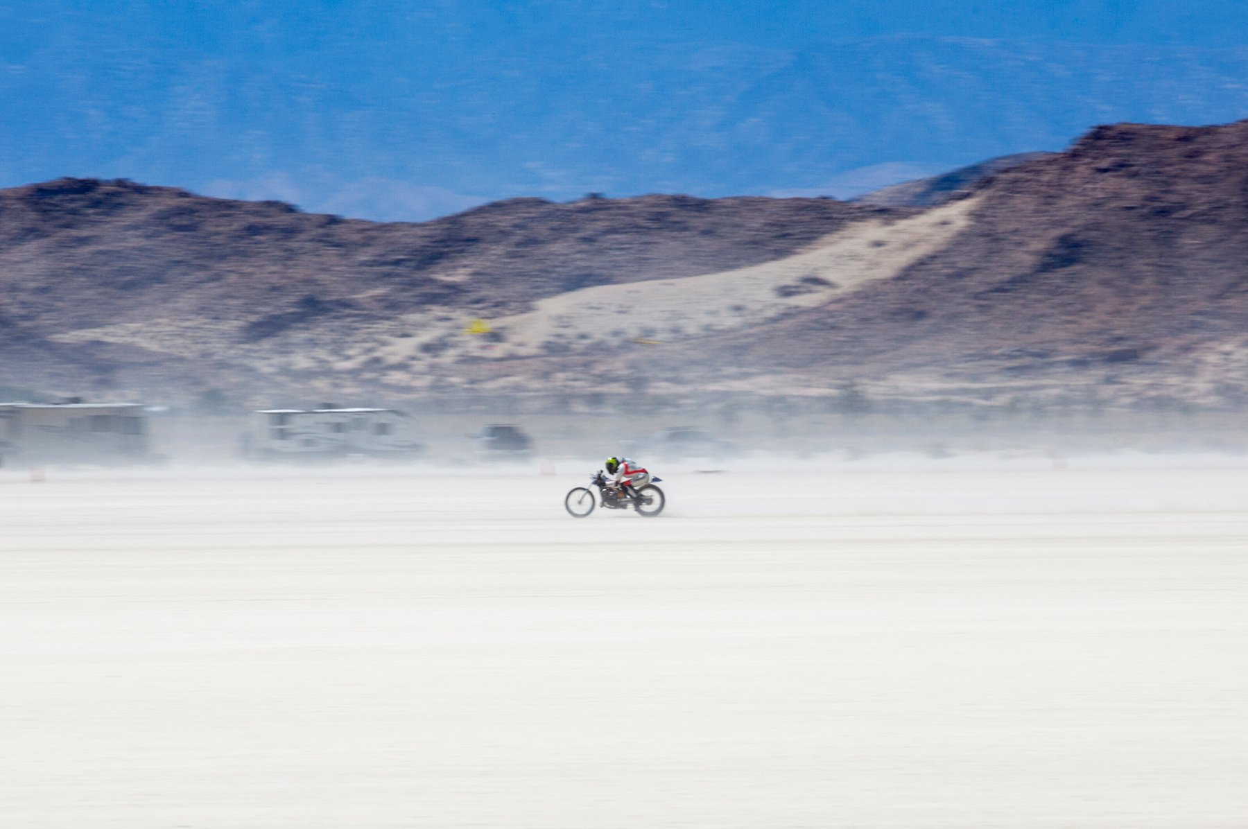 Land Speed Record Racing, El Mirage Dry Lake, California.