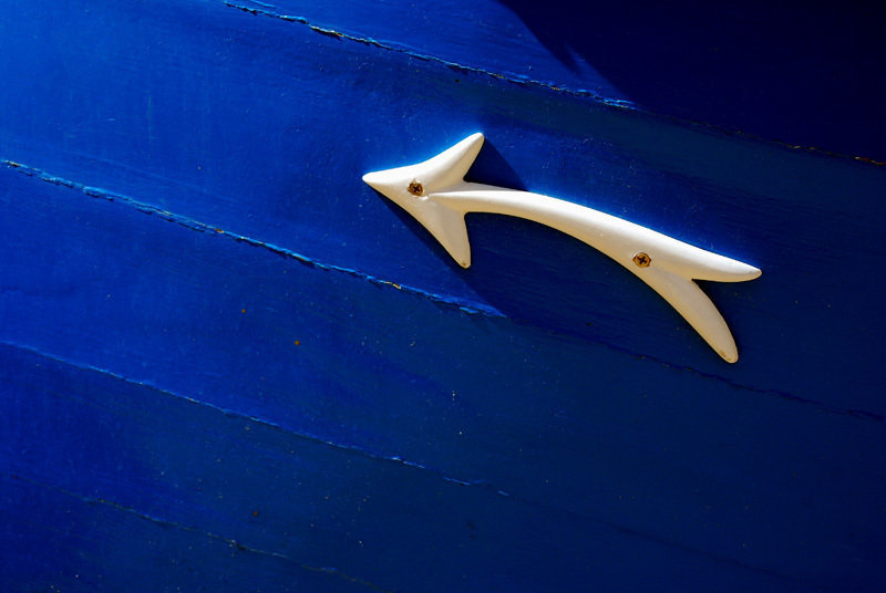 Detail on boat in Malta