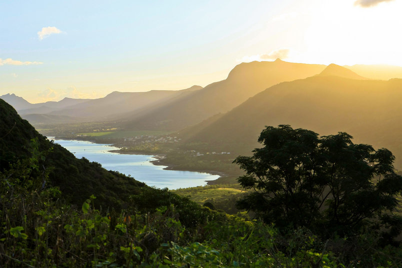 Sunrise view from Le Morne.