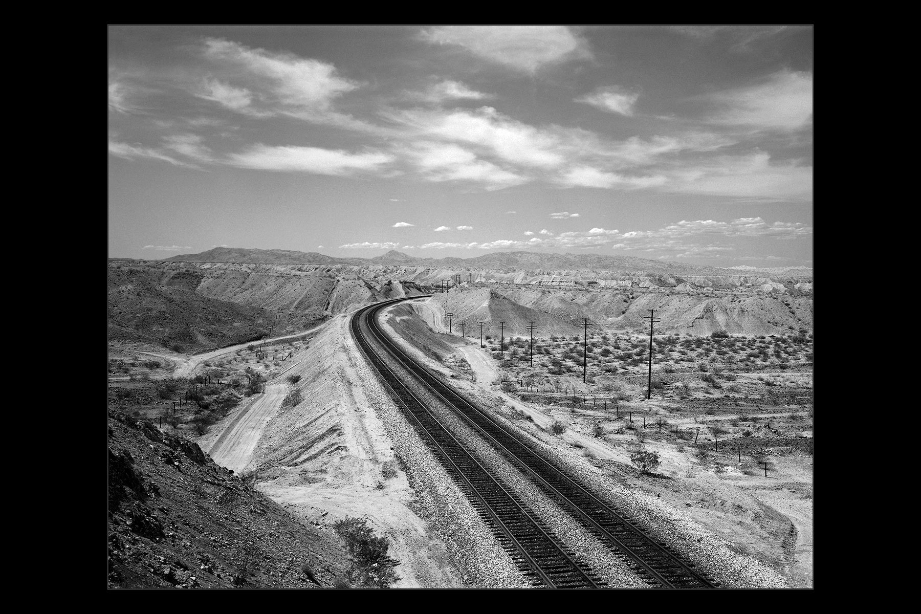 railroad tracks near Kingman, AZ