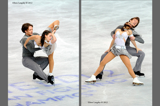 Tanja Kolbe and Stefano Caruso (Germany) competing in the ice dance event at the 2012 European Figure Skating Championships at the Motorpoint Arena in Sheffield UK January 23rd to 29th.