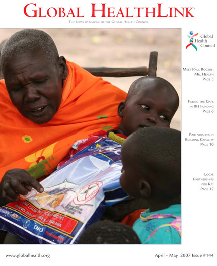 Cover Photo, photograph of South Sudan, Global HealthLink Magazine, April-May 2007 Issue