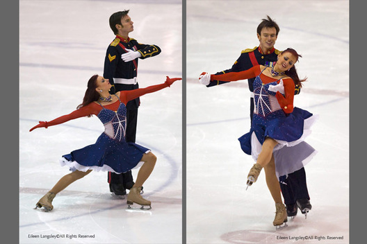 Louise Walden and Owen Edwards (Deeside) during their original dance at the 2009 IJS event at Ice Sheffield September 2nd.