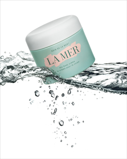 creme de la mer on water