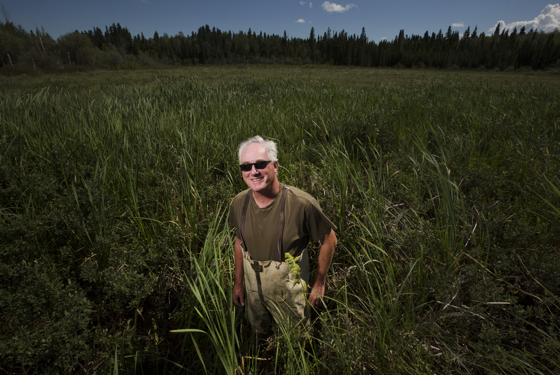 Wetlands biologist Chris Smith, Cranberry Portage, Manitoba