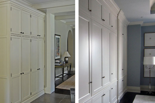 Left: Kitchen Built-In with custom finish