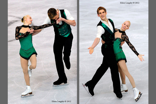 Stacey Kemp and David King (Great Britain) competing the Pairs event at the 2012 European Figure Skating Championships at the Motorpoint Arena in Sheffield UK January 23rd to 29th.