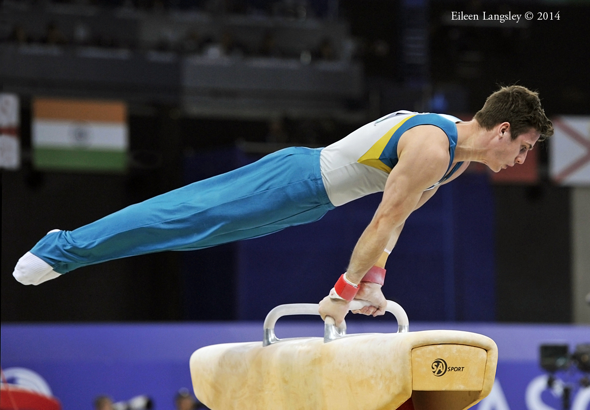 Jack Rickards (Australia) competing on Pommel Horse at the 2014 Glasgow Commonwealth Games.