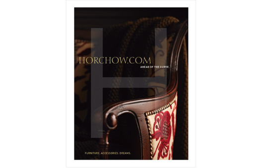 Campaign focuses on drive to Horchow.com with beautiful cropped product images and sophisticated clever copy.