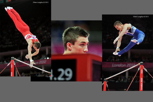 Sam Oldham (Great Britain) competing on High Bar at the Gymnastics competition of the London 2012 Olympic Games.