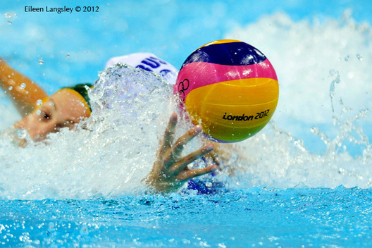 A generic image during the women's Water Polo match Australia against Russia.
