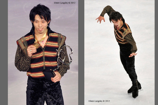 Takahito Mura (Japan) winner of the gold medal competing in the  long programmes at the 2012 ISU Grand Prix Trophy Eric Bompard at the Palais Omnisports Bercy