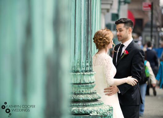 Manhattan elopement photographer at City Hall in downtown NYC