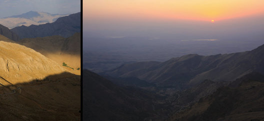 Mountain sunset over Kordestan province near the Iraq/Iran border.