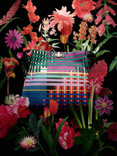 fendi with tropical flowers