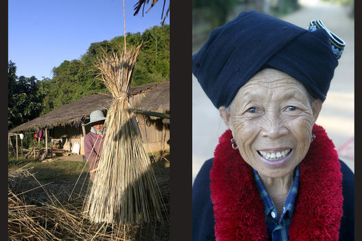 Akha Tribe Village, Northern Thailand.
