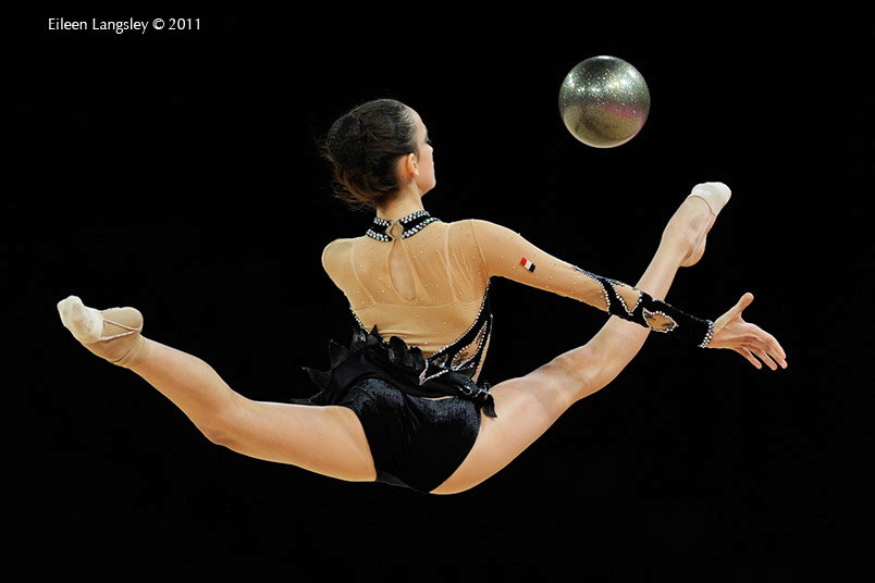 Alia Yassin Elkatib (Egypt) competing with Ball at the World Rhythmic Gymnastics Championships in Montpellier.