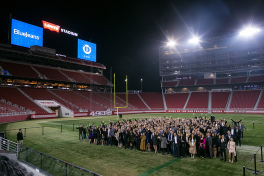Levi's Stadium in Santa Clara, California is home to the San Francisco 49ers since 2014 and can be used for private corporate events as well.  We were able to photograph a private event at the Levi's Stadium hosted by BlueJeans.  This online video conferencing solution company hosted their holiday party at the Levi's Stadium venue.  We love the San Francisco 49ers and what better way to celebrate your company milestones with an event at Levi's Stadium Bay Area Santa Clara.