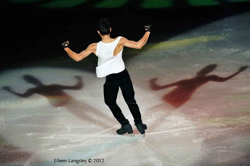 Florent Amodio (France) performing in the Exhibition Gala at the 2012 ISU Grand Prix Trophy Eric Bompard at the Palais Omnisports Bercy