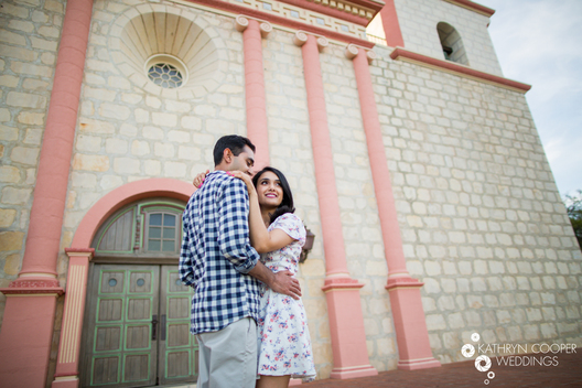 Indian wedding engagement photos in Santa Barbara California