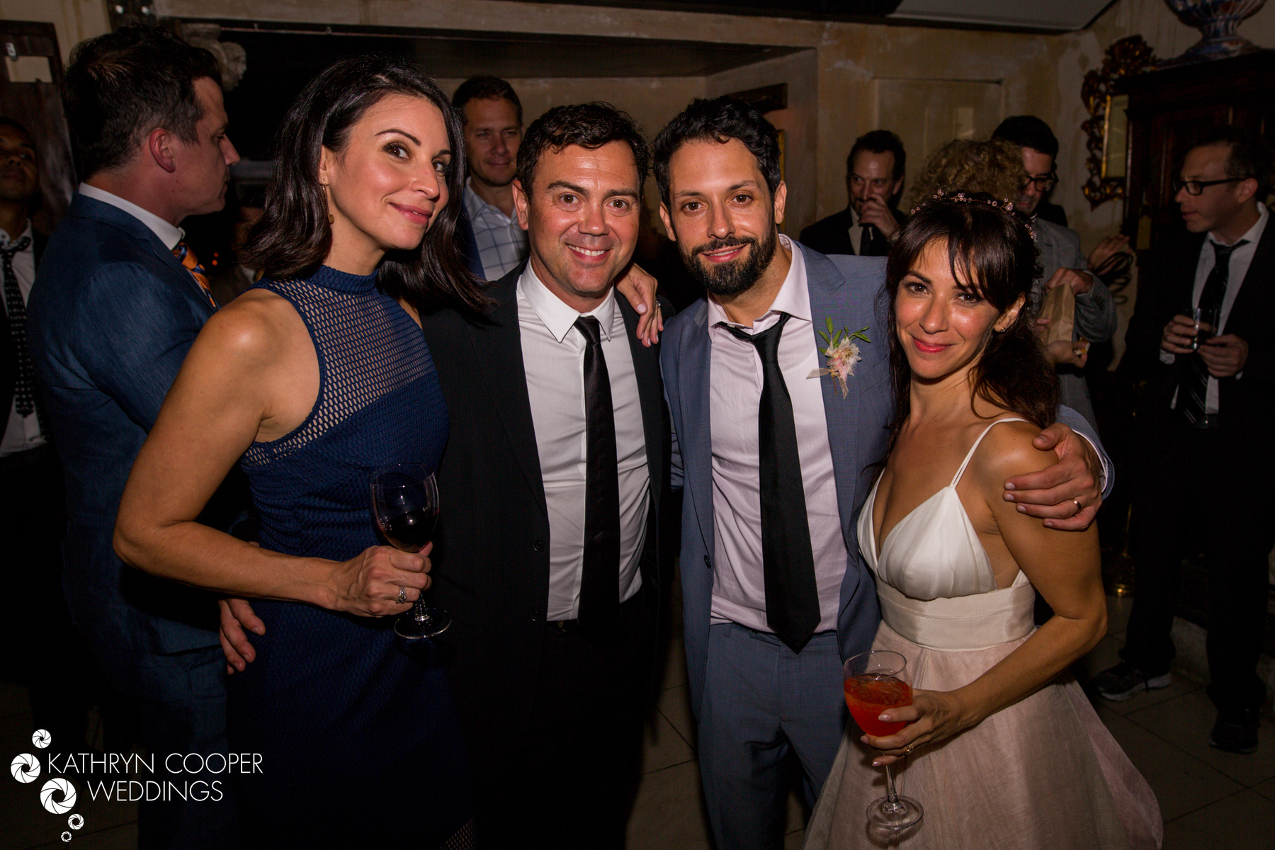 Celebrity wedding guests Joe Lo Truglio and Beth Dover for Kathryn Cooper Weddings