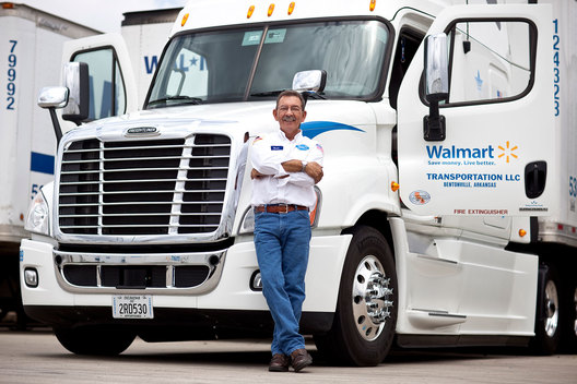 Oscar Montoya, Associate and truck driver at Walmart Logistics, Porterville, CA.