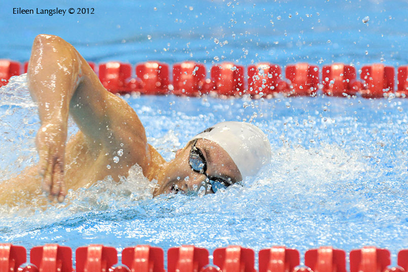 Rudy Garcia-Tolson (USA)competing in the men's 400 metres freestyle S8 at the London 2012 Paralympic Games.