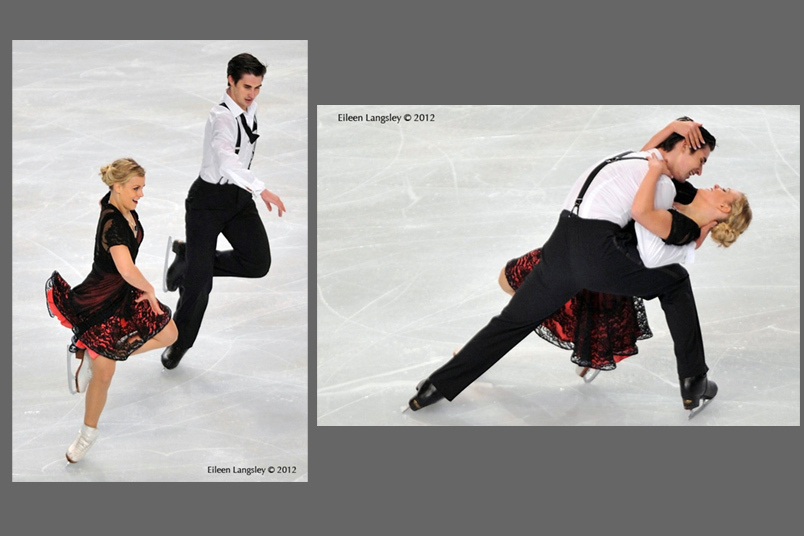 Madison Hubbell and Zachary Donohue (USA)  competing at the 2012 ISU Grand Prix Trophy Eric Bompard at the Palais Omnisports Bercy